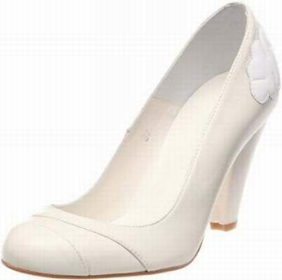 Robe blanche chaussure ivoire
